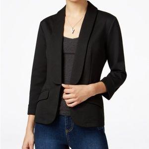 NWT Say What? shawl-collar blazer